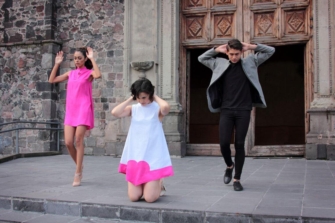 Foto: Braulio Fuentes en la plaza de Tlatelolco